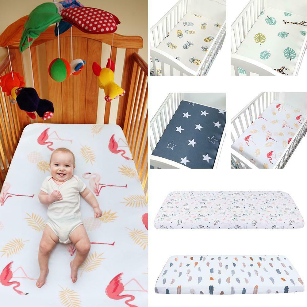 105*60cm Cotton Fitted Sheet With Printed for Baby Crib Cot Cotbed Junior Bed UK