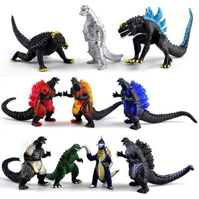 lot 10 Godzilla Monsters Mecha Fire Godzilla Gigan action FIGURE SET 3-6cm long