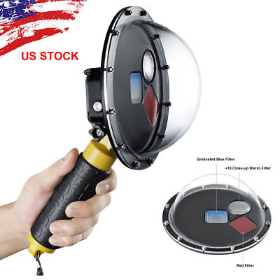 Dome Mooring Filter Switchable Underwater Dive Camera Lens Counter For GoPro HERO 5 6