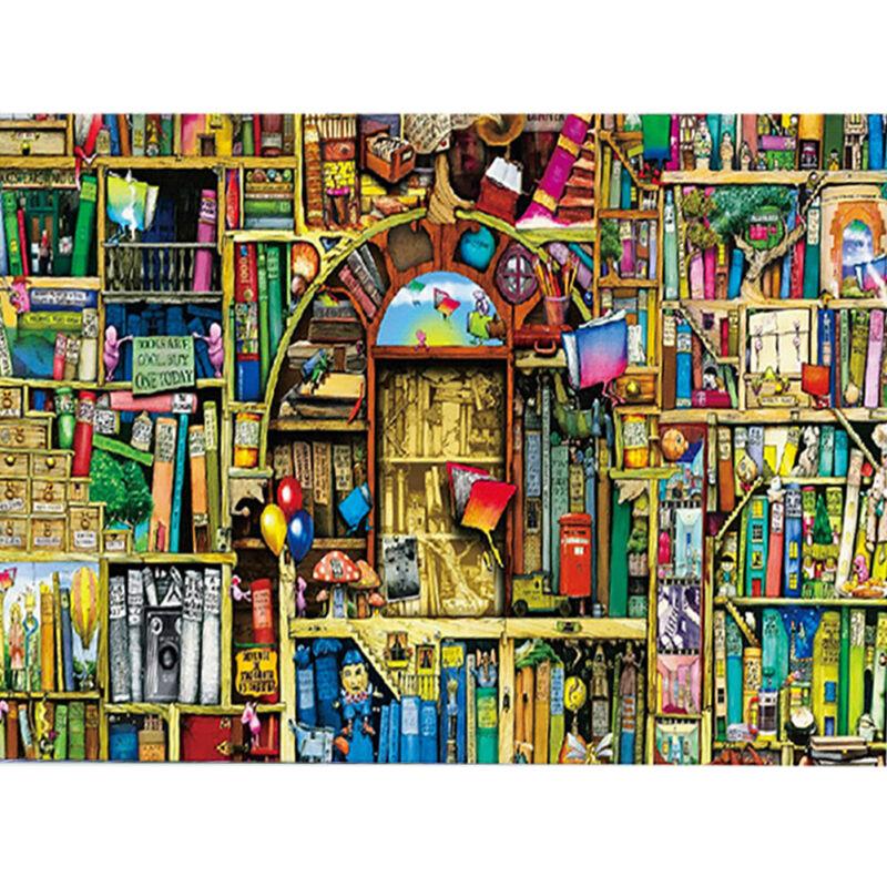 Ancient Bookshelf 1000 Piece Jigsaw Puzzle Puzzles Educational Decompression Toy