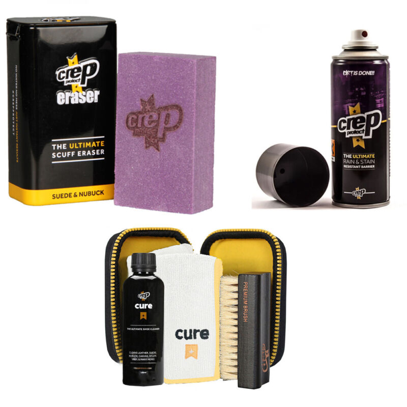Crep Protect Suede and Nubuck Shoe Care Kit Includes the Crep Protect Rain & Sta