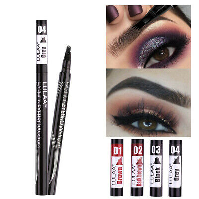 Microblading Four Head Design Eyebrow Tattoo Pencil Fork Tip Sketch Makeup Pen Eyebrow Liner & Definition