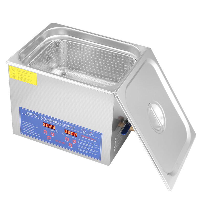 10 L Liter Stainless Steel Industry Heated Ultrasonic Cleaner Heater w/Timer USA