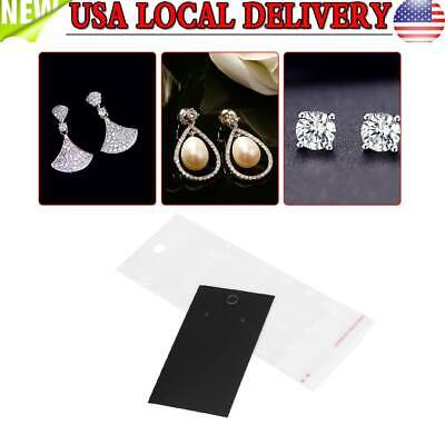 100pcs Earrings Packing Cards With Self Adhesive Bag Jewelry Display Accessories