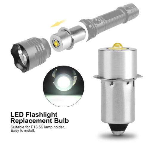 For Flashlight P13.5S Upgrade Bulb PR2 LED Bulb Replacement 2//3//4 C//D AA Cell