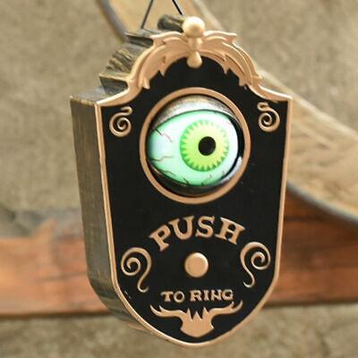Halloween Animated Doorbell Eyeball Haunted House Prop Decoration Scary Spooky
