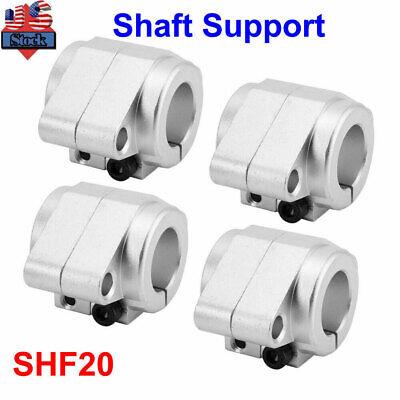 4pcs Shf20 Aluminum Linear Rail Bearing Shaft Guide Support Bracket Clamp Alloy