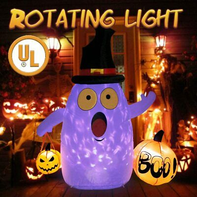 Halloween Inflatables 5FT Blow Up Ghost with LED Light Indoor/Outdoor Yard Decor