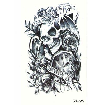 otenkopf Skull Fledermaus Design Temporary Klebetattoo (Tattoos Skulls)