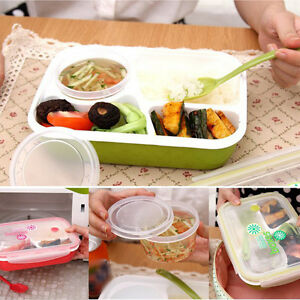 separated bento lunch box set utensils picnic food storage containers microwave. Black Bedroom Furniture Sets. Home Design Ideas