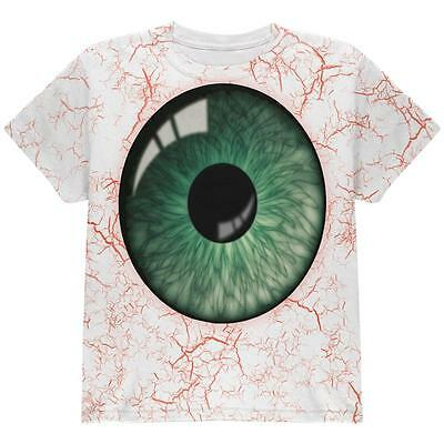Halloween Green Creepy Eyeball Costume All Over Youth T Shirt](All Green Halloween Costume)