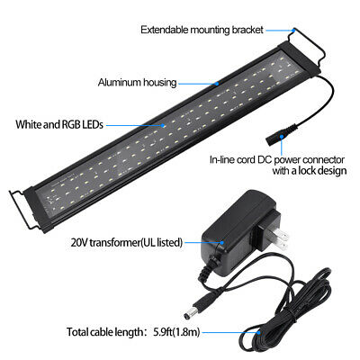 LED Aquarium Light Coral Fish Tank  Super Thin Lighting for Saltwater Freshwater