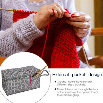 Large Yarn Storage Bag Knitting Crochet Tote Organizer Holder Portable Case Mgic Crafts