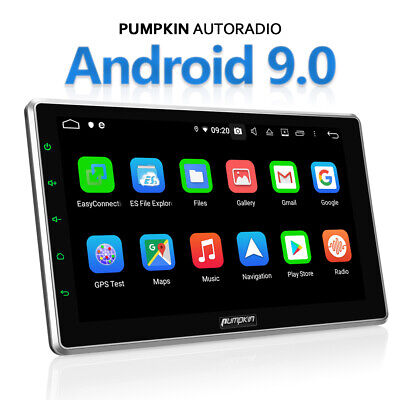 "Pumpkin 32GB 2GB HD Android 9.0 10.1"" Car Stereo 2Din GPS DAB OBD RDS USB DVR FM"