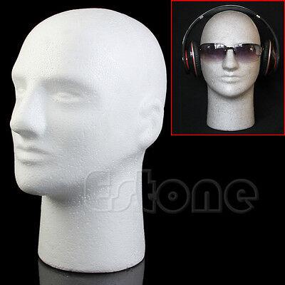 Styrofoam Foam Mannequin Manikin Male Head Model Wig Hat Glasses Display Stand