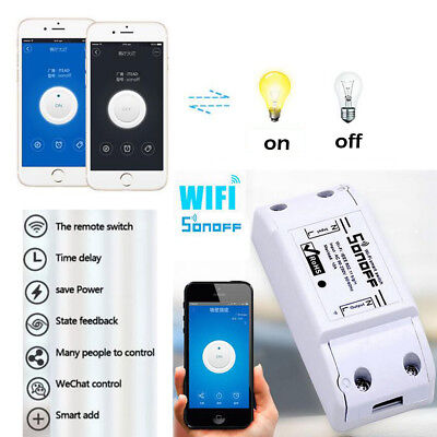 Sonoff ITEAD Home DIY Smart Switch Module Shell ABS Socket WIFI WIRELESS DESIGN