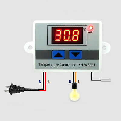 Digital Led Temperature Controller 10a Thermostat Control Switch Probe Us Stock