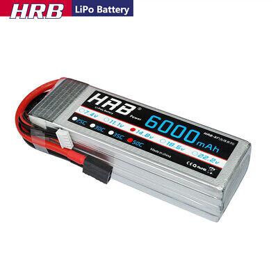 HRB 14.8V 6000mAh 4S LiPo Battery 50C-100C For RC Traxxas Xm