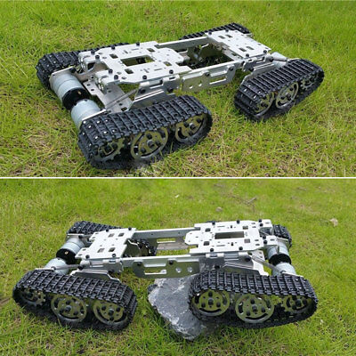Atv Track Tank Metal Robot Chassis Suspension Obstacle Crossing Crawler