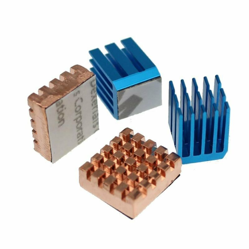 Copper Aluminium Cooling Heatsink for Raspberry Pi 3b+ Set 4 Heat Sinks