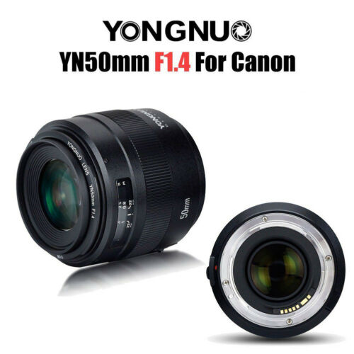 Yongnuo YN 50MM F/1.4 Standard Prime Lens Auto Focus AF MF for Canon DSLR Camera