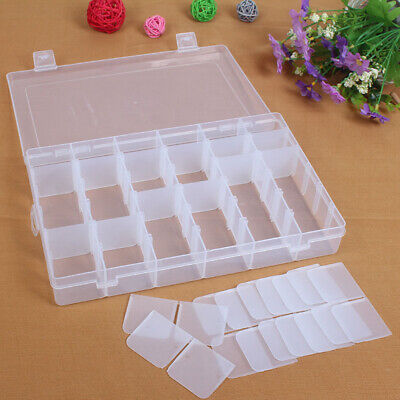 36 Compartments Clear Plastic Jewelry Storage Box Bead Organizer Container Well Home & Garden