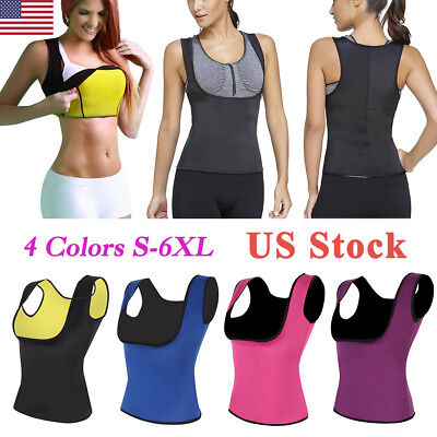 US Thermo Sweat Body Shaper Corset Slimming Waist Trainer Cincher Clincher Vest (Waist Clincher)