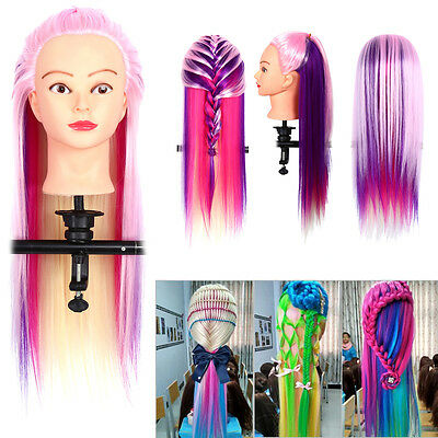 26 Salon Makeup Training Head Hairdressing Long Human Hair Mannequin Doll Comb