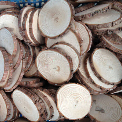 10pcs Unfinished Natural Round Wood Slices Circles Discs for DIY Crafts Dia3-4cm - Diy Wood Crafts
