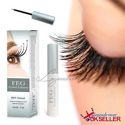 UK 3ml FEG Eyelash Enhancer Eye Lash Quick Growth Serum Liquid 100% Original