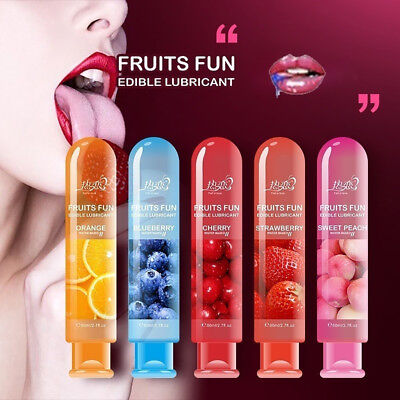 Adult Sexual Body Smooth Fruity Lubricant Gel Edible Flavor Sex Health Toy New