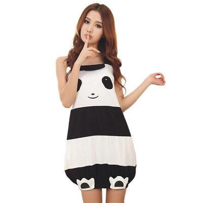 Cute Female Summer Girl Lovely Panda Sling Nightgown Household Lingerie