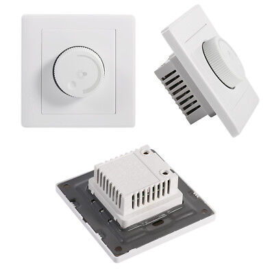 Light Dimmer Control Wall Rotary Lamps LED Light Switch Brightness Controller SS