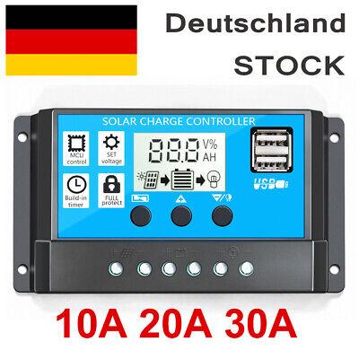 Solar Laderegler Solarregler Solar panel Controller Regulator 12V/24V Mit USB Usb Solar Panel