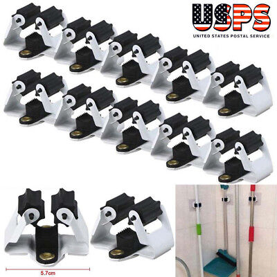 10pcs Wall Mount Mop Broom Holder Hanger Kitchen Cleaning Tool Organizer Kitchen