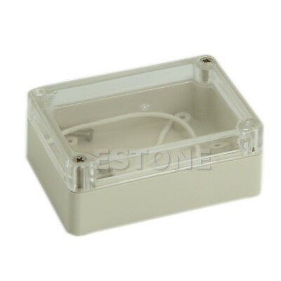 85x58x33mm Waterproof Cover Clear Plastic Electronic Project Box Enclosure Case