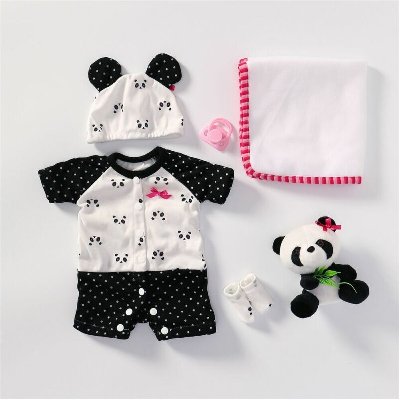 Panda Clothes Lovely Baby Outft Fit for Reborn Baby Dolls 16-18