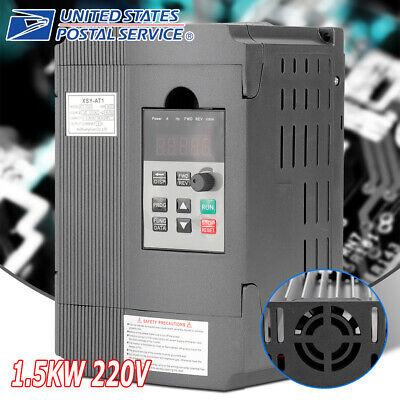 220v 1.5kw Single Phase Vfd Variable Frequency Speed Controller Drive Inverter S