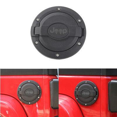 Black Fuel Filler Door Cover Gas Tank Cap fit for 2007-2018 Jeep Wrangler JK
