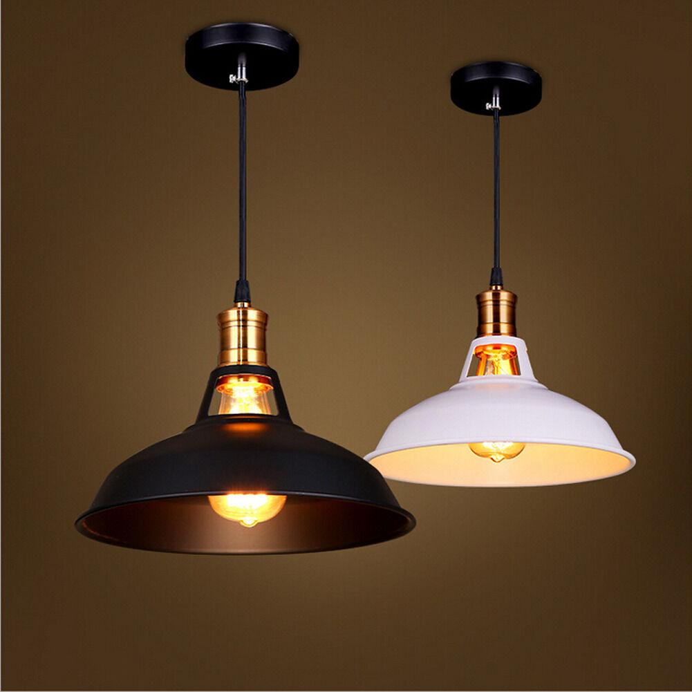 2 pcs retro pendant lamp ceiling light holder vintage for Metal hanging lights