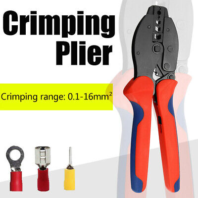Professional Ratchet Crimping Tool Insulated Cable Wire Terminals Crimper Pliers