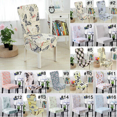 Removable Easy Fit Stretch Slipcovers Short Dining Room Chair Seat Cover Decor - Easy Wedding Decorations