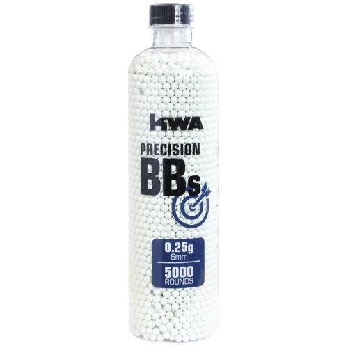 KWA Perfect Grade .25g 5000ct 6mm Seamless Airsoft BB bbs .25 Bottle 198-00210