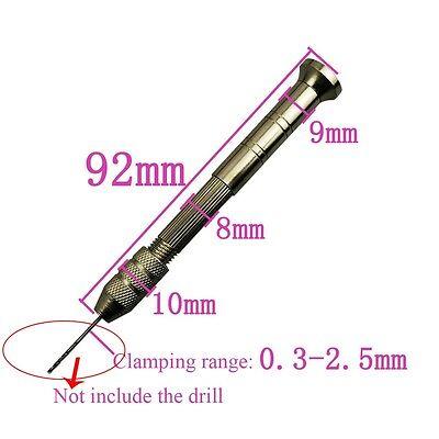Aluminum Semi-automatic Mini Manual Hand Drill Chuck Twsit Micro Drill Bit Good