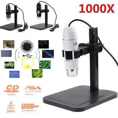 Digital 8 Led Usb 2mp 1000x Zoom Microscope Biological Endoscope Camera W Stand