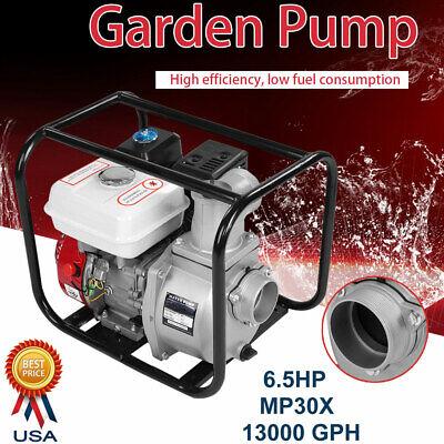 3 Inch Petrol Gasoline Water Transfer Pump 6.5hp 7m High Flow Garden Irrigation