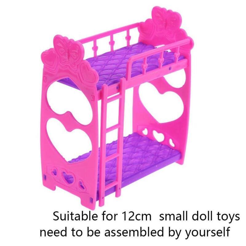 Details About 1set Bunk Bed Bedroom Furniture Bed Plastic For Barbie Dolls Dollhouse Decor