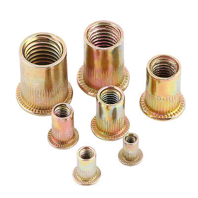 20100pcs M3 M4 M5 M6 M8 M10 M12 Carbon Steel Flat Metric Threaded Rivet Nuts Sg