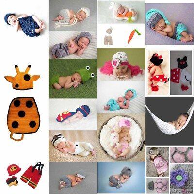 Fotoshooting Baby Fotografie Strick Kostüm Hut Hose Häkelkostüm Neugeborenen - Kostüm Foto Shooting