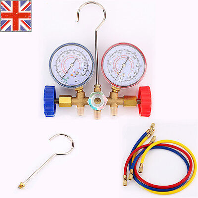 Air Conditioning A/C Refrigeration AC Diagnostic Manifold Gauge Cars Tool Set